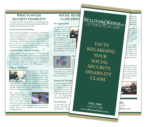 Download Our Brochure on Social Security Disability